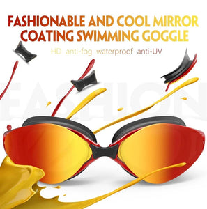 NEW! Mirror Coated Silicone Fashion Swimming Glasses