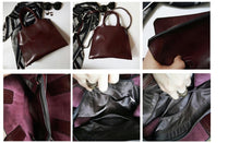 Load image into Gallery viewer, Women's Leather Briefcase Handbag