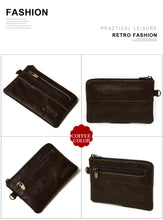Load image into Gallery viewer, Men's Vintage Zippered Leather Wallet