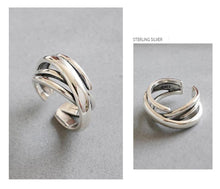 Load image into Gallery viewer, Stunning Sterling Silver Geometric Cuff Ring