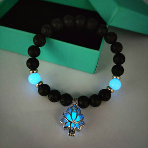 Luminous Flower Charm Beaded Bracelet
