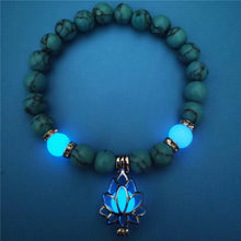 Load image into Gallery viewer, Luminous Flower Charm Beaded Bracelet
