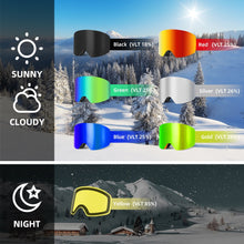 Load image into Gallery viewer, Italian Mirrored Snowboarding Shades UV400