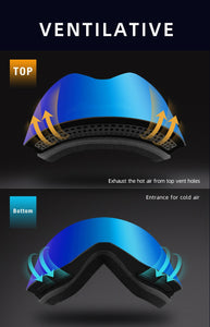 HOT! High Performance Magnetic UV400 Snow Shades