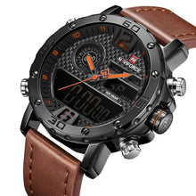 Load image into Gallery viewer, Mens Leather Band Luxury Sports Watch Jewelry