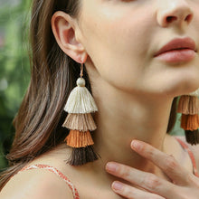 Load image into Gallery viewer, Fall Bohemian-Style Fringe Earrings