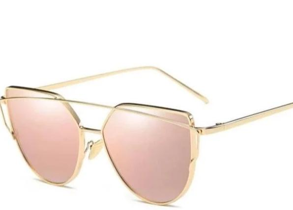 Women's Glamorous Mirrored Cat-Eye Glasses