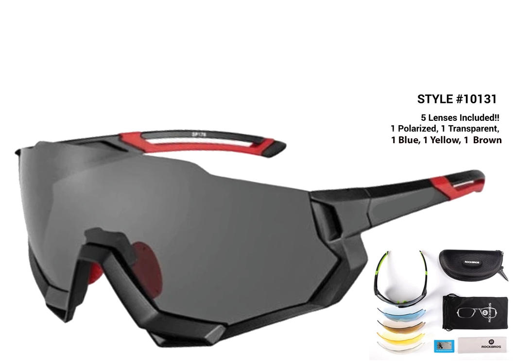 New! Polarized Cycling Glasses Package