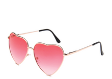 Load image into Gallery viewer, Red Lens Heart Sunglasses
