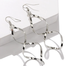 Load image into Gallery viewer, Elegant Spiral Loop Earrings