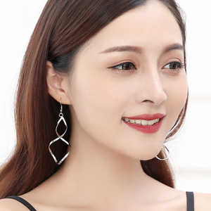Elegant Spiral Loop Earrings