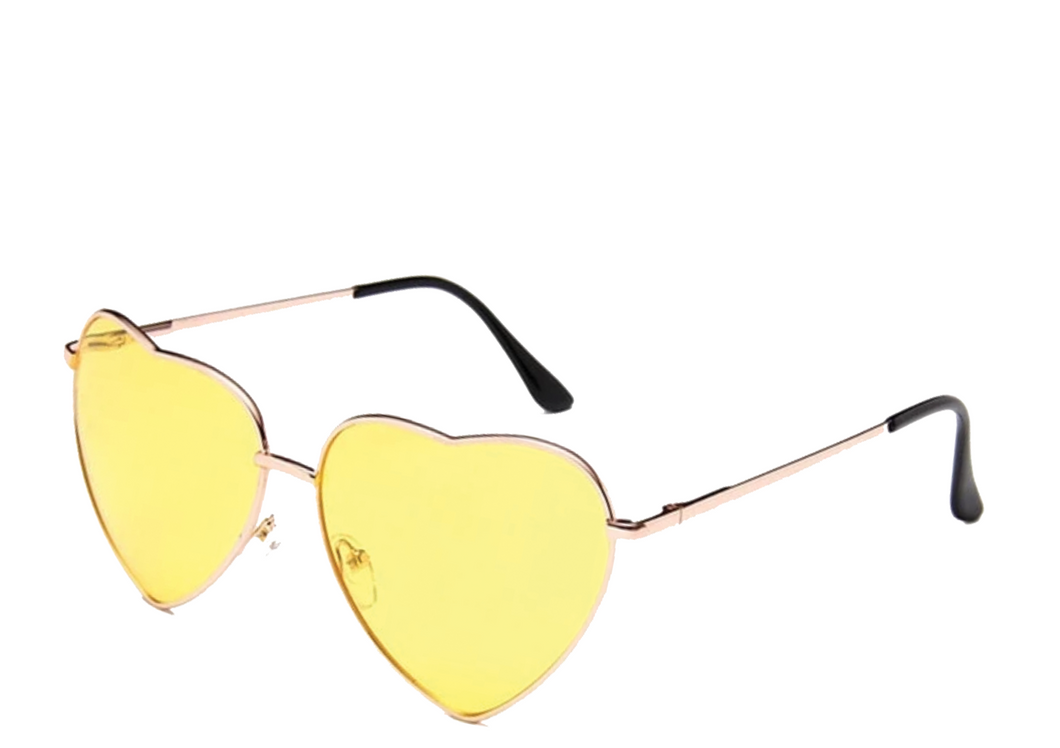 Yellow Heart Sunglasses