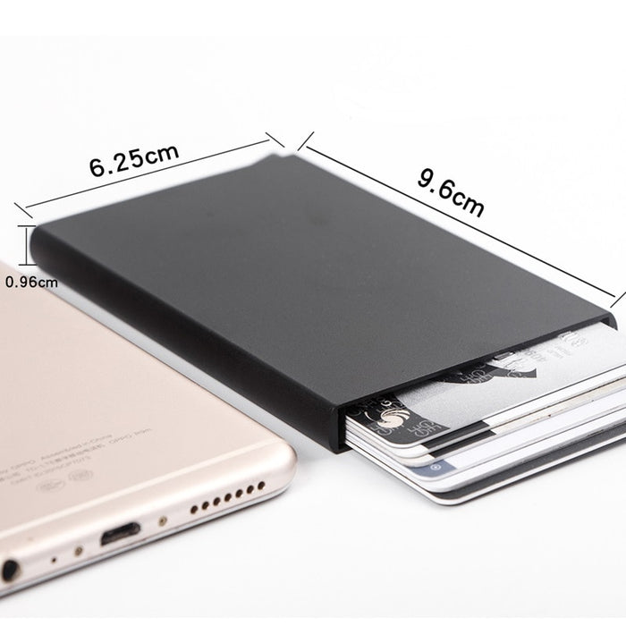 Automatic Pop Up Aluminum Card Holder Wallet RFID Blocking