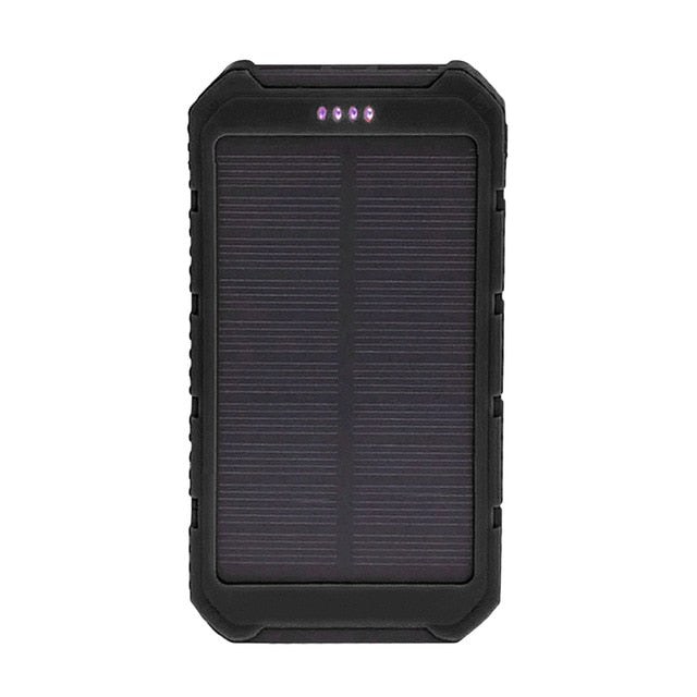 Solar Panel Sun power Battery Power Bank 20000mAh large Capacity Charger Universal Portable Solar Mobile Phone Power Charger
