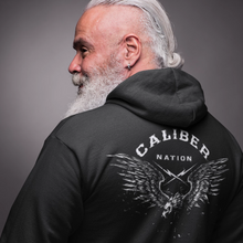 Load image into Gallery viewer, Caliber Nation Eagle Men's lightweight zip hoodie