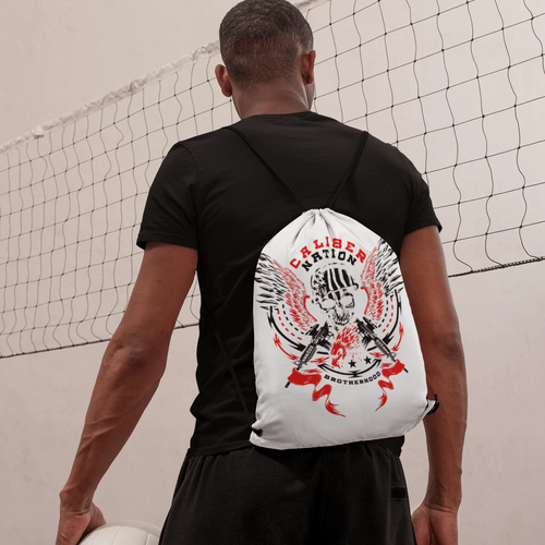 Drawstring bag Caliber nation skull