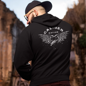 Caliber Nation Eagle Men's lightweight zip hoodie