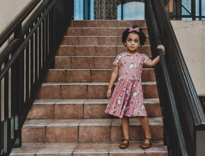 Dusty Rose Twirl Dress - SweetChildsBoutique