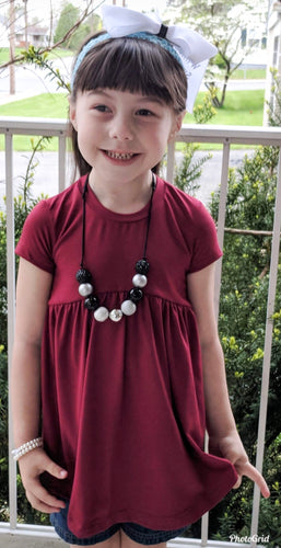 Maroon Boho Dress (Williams Syndrome Awareness) - SweetChildsBoutique
