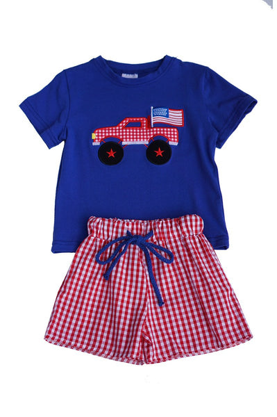 Boys Patriotic Short Set