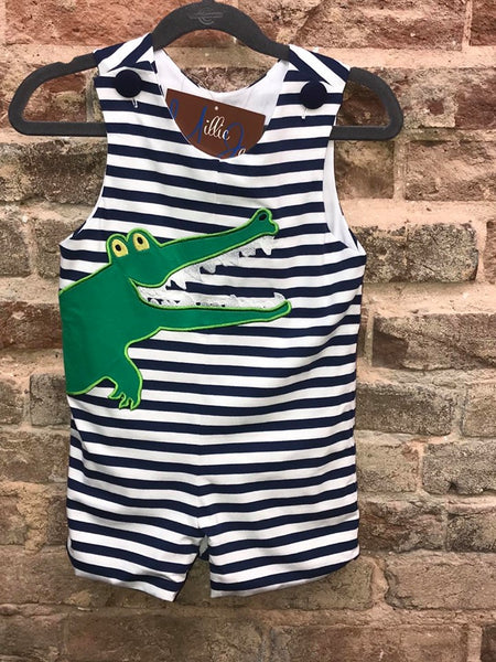 Millie Jay Boys Gator Applique Jon Jon