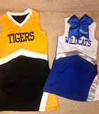 Cheerleading Uniform and Pom-Poms