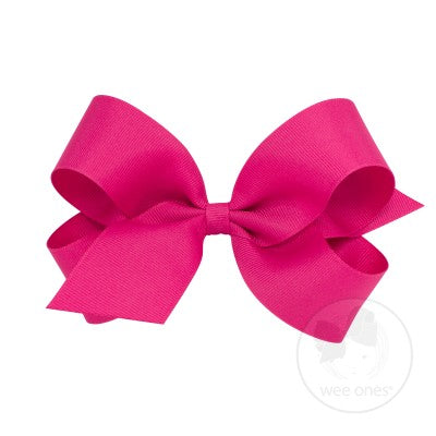 Wee Ones Shocking Pink Bows