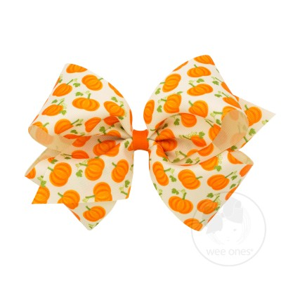 Wee Ones Pumpkin Bow