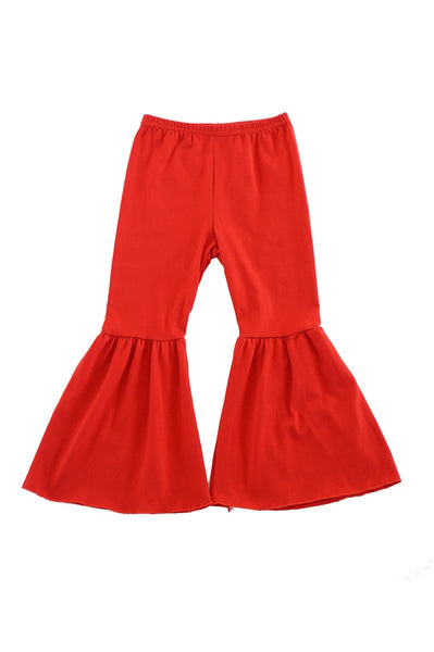 Girls Red Bell Pants