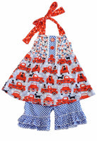 Girls Patriotic Ruffle Set