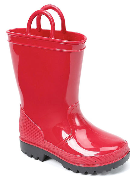 Girls Red Rain Boots