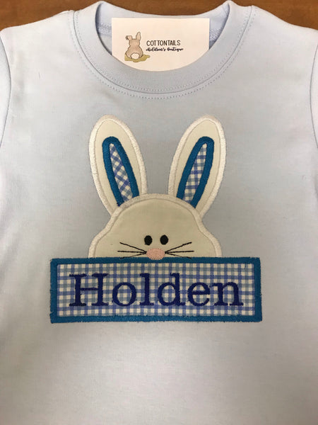 Custom Bunny Embroidery Shirt with Name