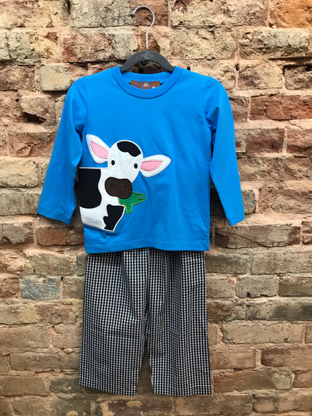 Millie Jay Cow Applique Pant Set