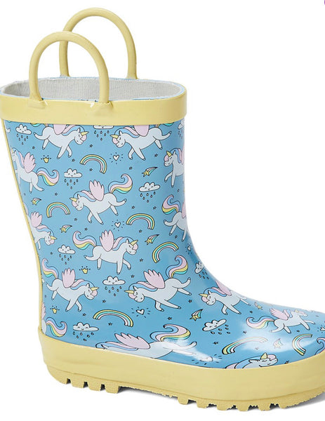 Girls Unicorn Rain Boots