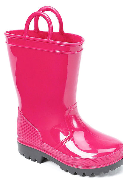 Girls Hot Pink Rain Boots