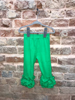 Green Ruffle Icing Pants