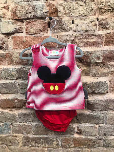 JellyBean by Smocked Candy Mickey Mouse Diaper Set