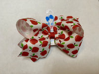 Wee Ones Apple Print Bow