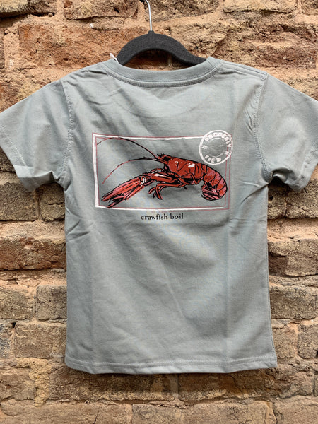 Properly Tied Grey Crawfish Boil T-Shirt