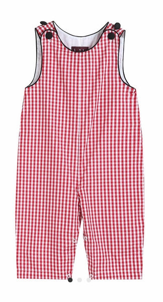 Lil Cactus Red Gingham Overalls