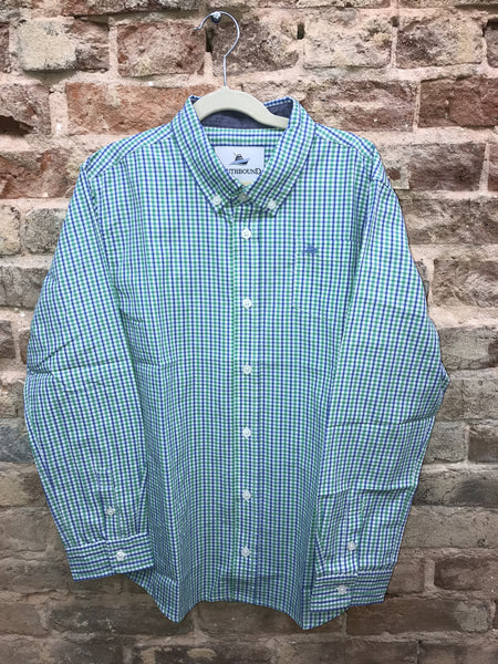 Southbound Green/Blue Plaid Button Down