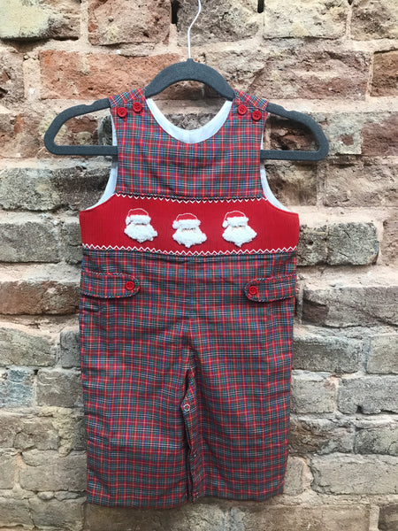 Mom & Me Smocked Santa Romper