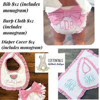 Custom Embroidery and Applique Baby Sets