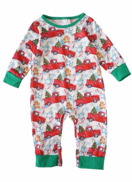 Christmas Car Baby Romper