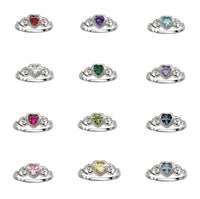 Cherished Moments Sterling Silver Birthstone Rings