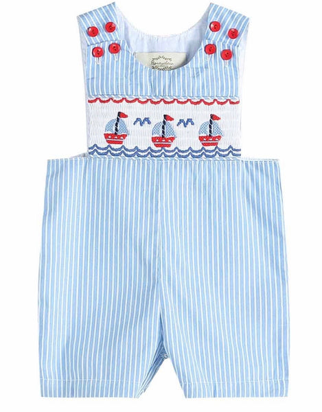 Smocked Sailboat Romper