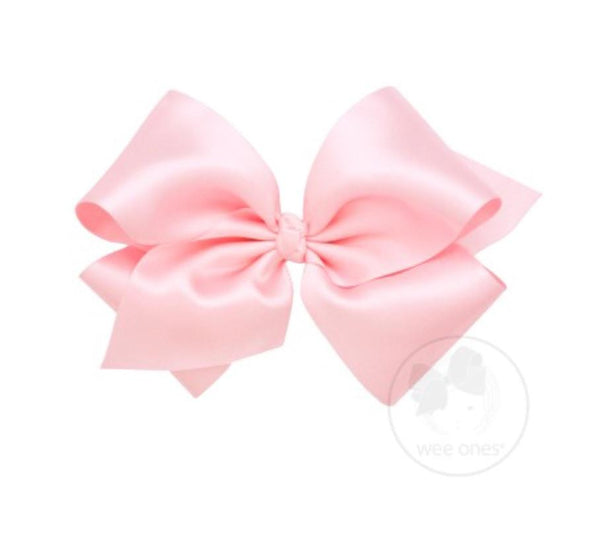 Wee Ones Light Pink French Satin Bow