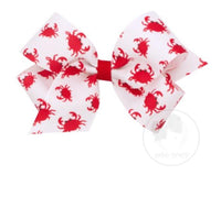 Wee Ones Crab Print Medium Bow