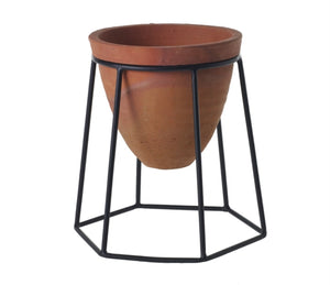 Plant Stand Empty Black Terracotta