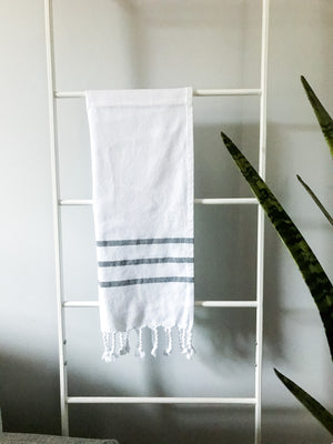 Turkish Hand Towel White Stripe